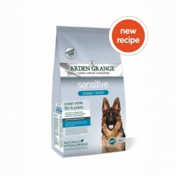 Arden Grange Puppy/Junior Sensitive Ocean White Fish & Potato 2kg