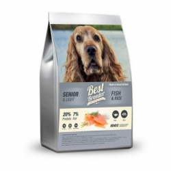 Best Breeder Senior / Light Fish & Rice 12kg