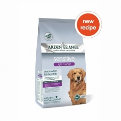 Arden Grange Light / Senior Sensitive with White Fish & Potato 12kg