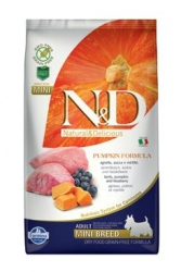 N&D GF Pumpkin DOG Adult Mini Lamb & Blueberry 2,5kg
