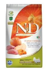 N&D GF Pumpkin DOG Adult Mini Boar & Apple 2,5kg
