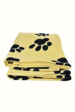 Deka pro psy BARNEY hnědá a černé tlapky 150x100cm TR