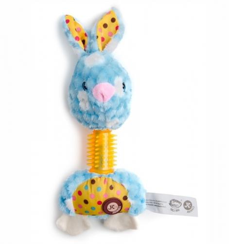 Plyšový králík s TPR krkem, plyšová pískací hračka