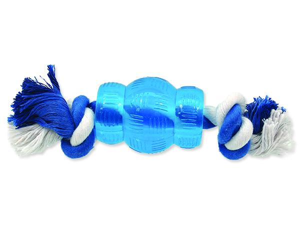 Hračka ONTARIO mini soudek s provazem 6,8 cm
