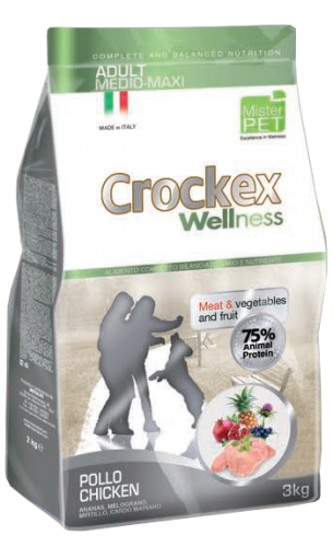CROCKEX Adult Medium - Maxi Chicken Rice Low Grain 24kg