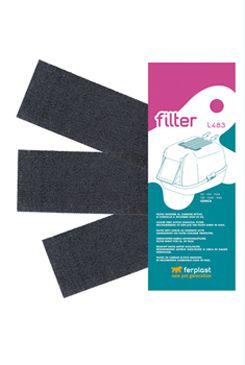 Náhradní filtr uhlíkový k WC pro kočky L483 FP