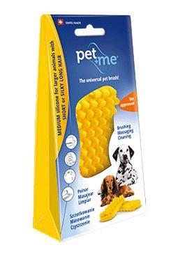 PET and ME kartáč pro psy, krátká srst, žlutý
