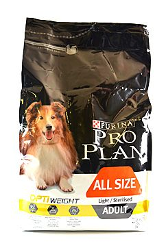ProPlan Dog All Size Adult Light/Sterilised 3kg