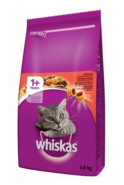 Whiskas Dry s hovězím masem 3,8kg