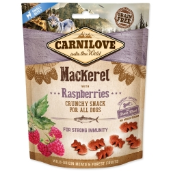 CARNILOVE Dog Crunchy Snack Mackerel with Raspberries with fresh meat