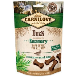 CARNILOVE Dog Semi Moist Snack Duck enriched with Rosemary