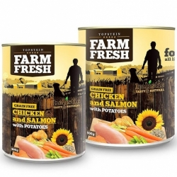 Topstein Farm Fresh Chicken & Salmon with Potatoes 800 g